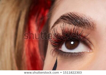 美しい マクロ ショット 眼 極端な 長い ストックフォト © serdechny