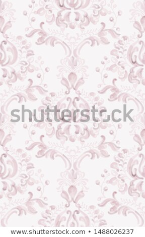 Classic elegant ornament pattern watercolor vector. Pink delicate color textures Stock photo © frimufilms