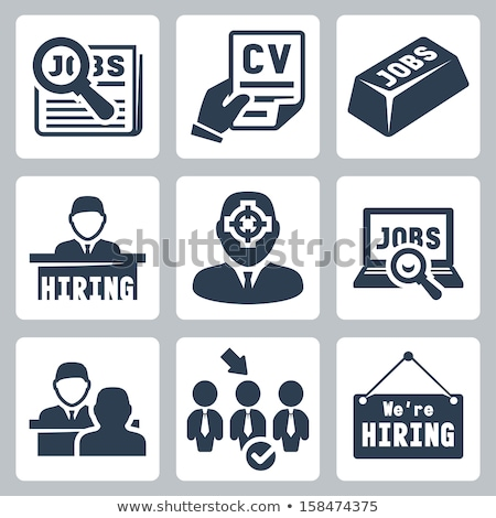 Job Interview Human Silhouette Hunting Vector Icon Stock photo © pikepicture
