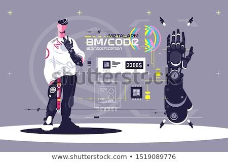 Hoog technologisch mannelijke permanente tonen af Stockfoto © jossdiim
