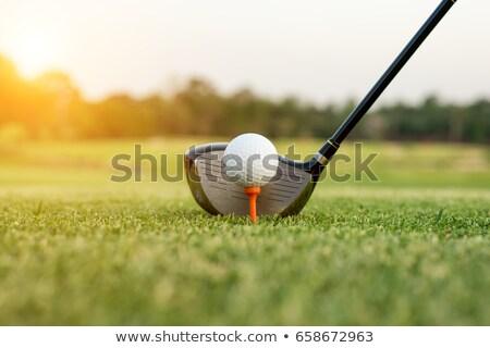Stok fotoğraf: Golf · kulüp · top · spor · gün · batımı