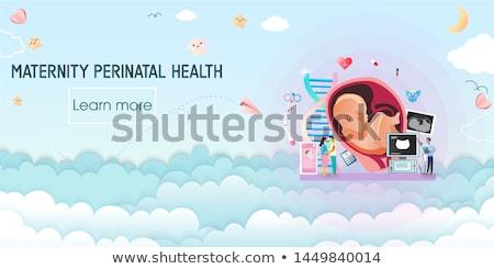 Mutterschaft Dienstleistungen schwanger Frauen professionelle Hilfe Stock foto © RAStudio
