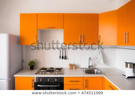 оранжевый · домой · кнопки · изолированный · белый - Сток-фото © cidepix