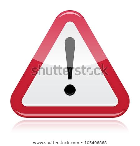 металлический ошибка знак красный кнопки изолированный Сток-фото © cidepix