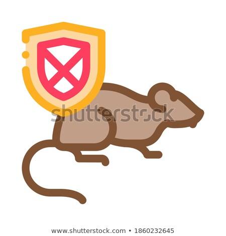 Szczur zakazu ikona wektora ilustracja Zdjęcia stock © pikepicture