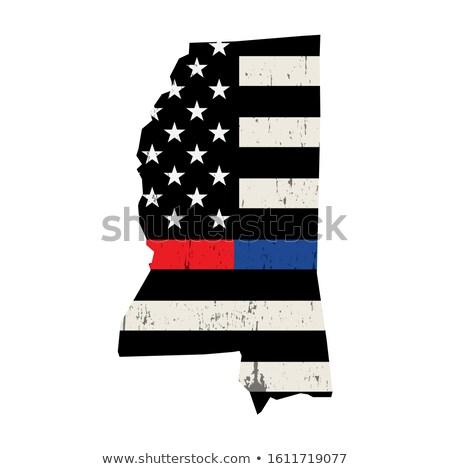 State of Mississippi Firefighter Support Flag Illustration Stock photo © enterlinedesign