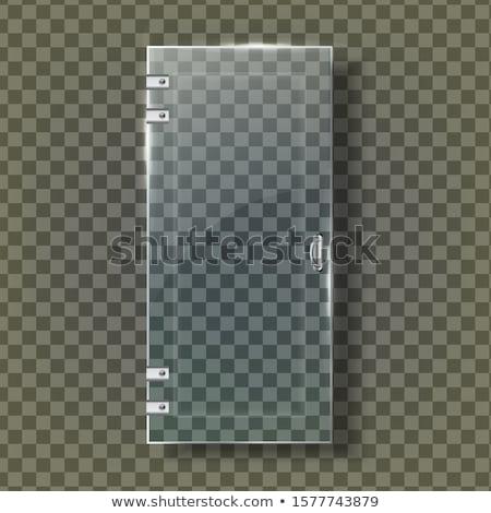 ガラス ドア 鋼 ハンドル ベクトル 透明な ストックフォト © pikepicture