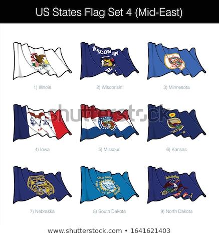 US States Flag Set - Mid East Stock photo © nazlisart