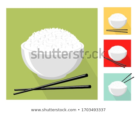 Japanese tea, plates and chopsticks Stock photo © karandaev