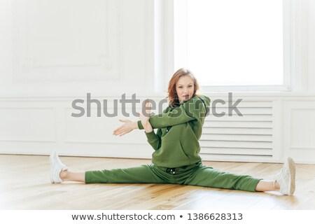 горизонтальный выстрел гибкий молодые женщину Сток-фото © vkstudio