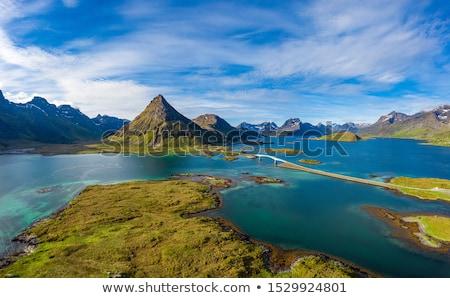 Fredvang Bridges Panorama Lofoten islands Stock photo © cookelma