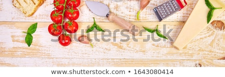 バナー のイタリア料理 準備 料理 食品 フレーム ストックフォト © Illia