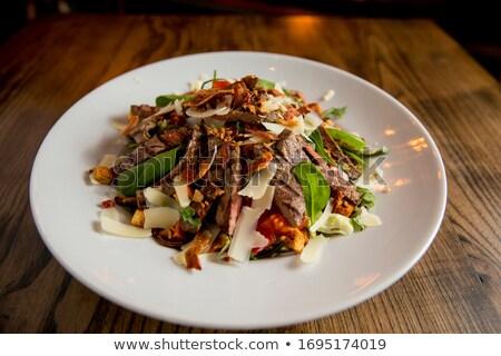 Bife salada alface foguete espinafre parmesão Foto stock © boggy