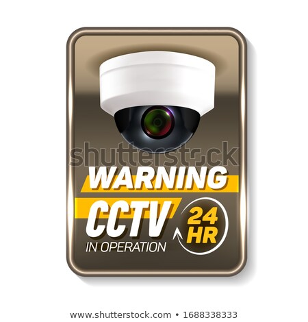 Cctv in Operation Warning Nameplate Banner Vector Stock photo © pikepicture