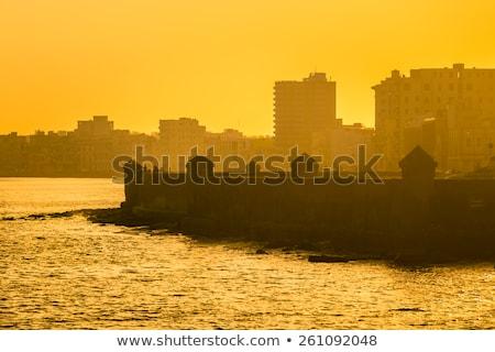 Hawana złoty sylwetka proste turystyki Zdjęcia stock © ShustrikS