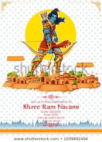 Shree Ram Navami celebration background for religious holiday of India Stock photo © vectomart