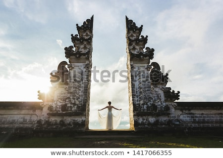 Gates to one of the Hindu temples in Bali in Indonesia. Travel to Bali concept. Stock photo © galitskaya