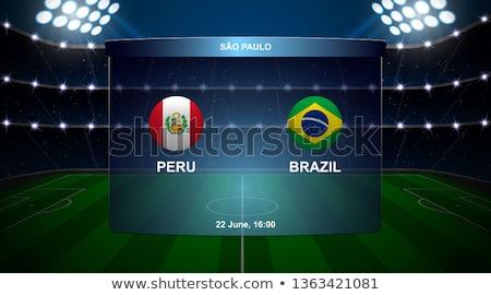 Peru vs Brasil football match Stock photo © olira