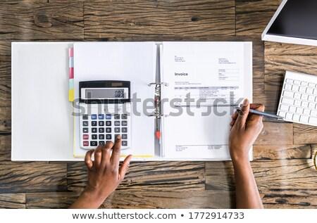 Fekete afrikai könyvelő nő könyvelés adó Stock fotó © AndreyPopov