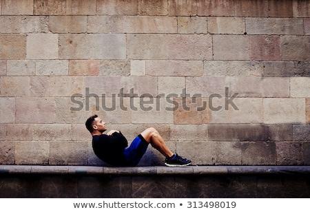 Obraz sportowiec dres treningu fitness Zdjęcia stock © deandrobot