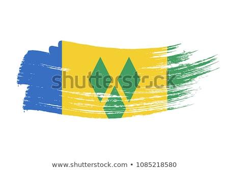 Aziz bayrak beyaz dünya yeşil özgürlük Stok fotoğraf © butenkow