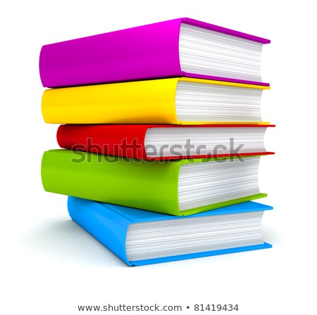 Boglya fényes iskola tankönyvek izolált fehér Stock fotó © evgeny89