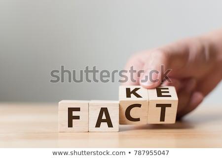 Fact Fiction Evidence Check Stock photo © AndreyPopov