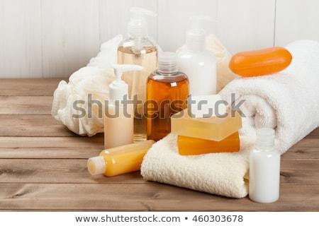 Fürdő készlet sampon szappan bár folyadék Stock fotó © galitskaya