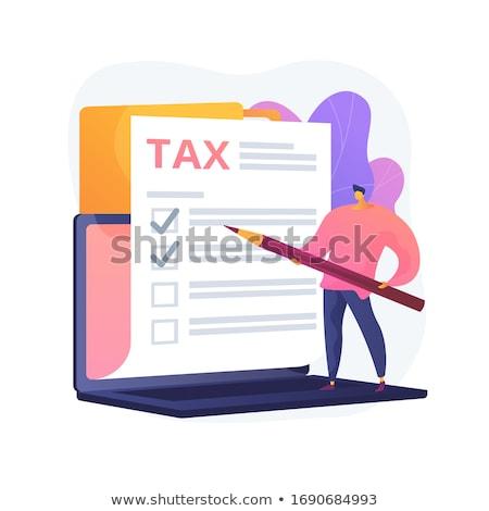 Checkbox documento vetor metáfora imposto gestão Foto stock © RAStudio