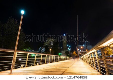 footbridge in door at night Stock photo © cozyta