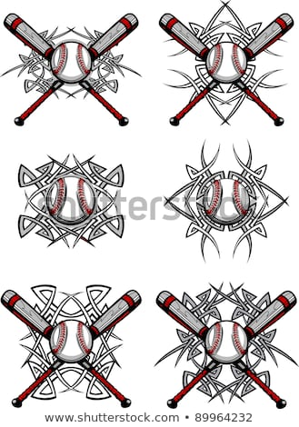 Baseball softball tribales graphique image Photo stock © chromaco