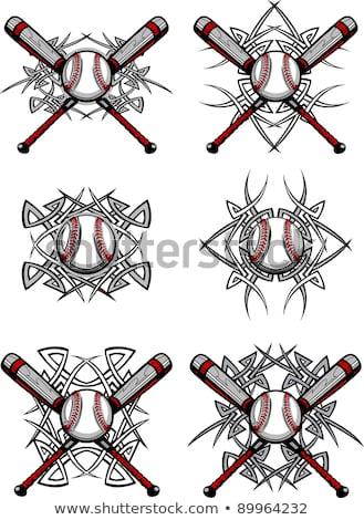 öltések · baseball · makró · lövés · piros · űr - stock fotó © chromaco