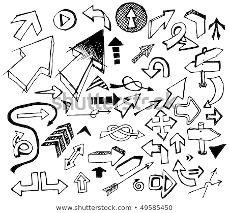 big set of various black doodle arrows stock photo © orson