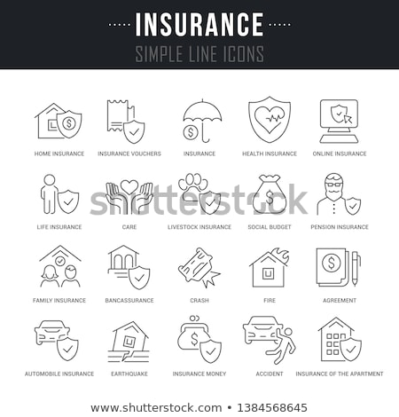 tremblement · de · terre · maison · puissant · catastrophe · assurance · briques - photo stock © sahua