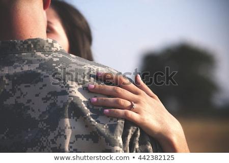 солдата девушки солдаты равномерный лице Сток-фото © diomedes66