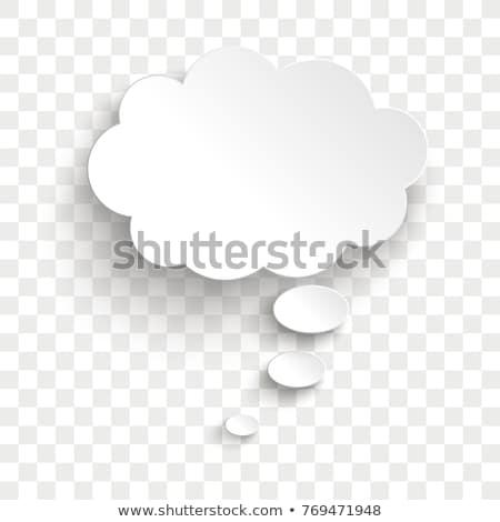 Toespraak dacht bubbels vector xxl vak Stockfoto © UPimages