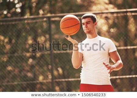 Basketbol parmak sepet top doku spor Stok fotoğraf © johnnychaos