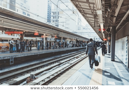 Motion on train station Stock photo © Paha_L