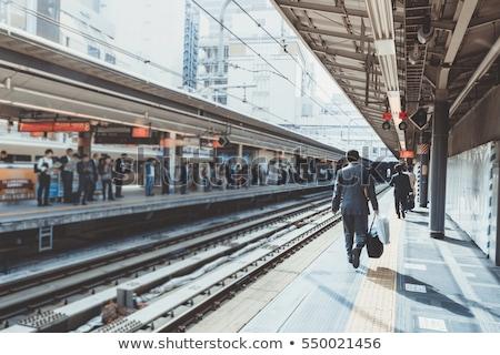 kadın · metro · istasyon · genç · kadın · kış · kat - stok fotoğraf © paha_l