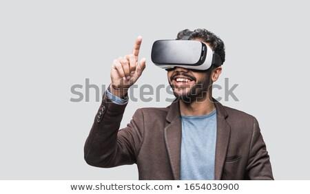 hombre · virtual · gafas · cara · Internet · seguridad - foto stock © Paha_L