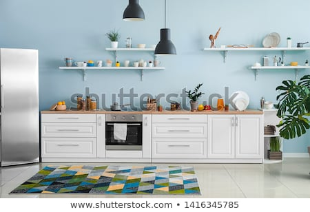 Kék konyha kettő piros Stock fotó © jet_spider