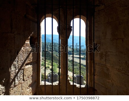 beautiful view from the towers of castle of loarre spain stock photo © nobilior