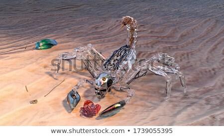 Metaliczny skorpion uproszczony metal czerwony Zdjęcia stock © prill