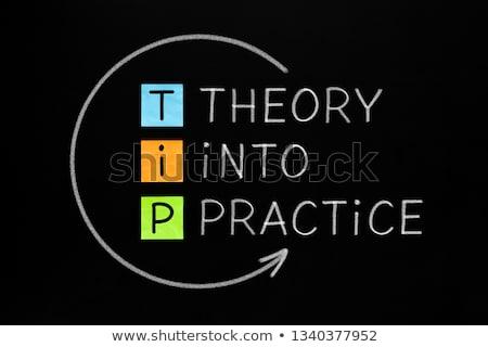théorie · pratique · pointe · acronyme · coloré · rappel - photo stock © bbbar