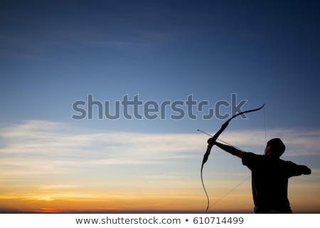 Erős íjász íj nyíl illusztráció tart Stock fotó © Krisdog
