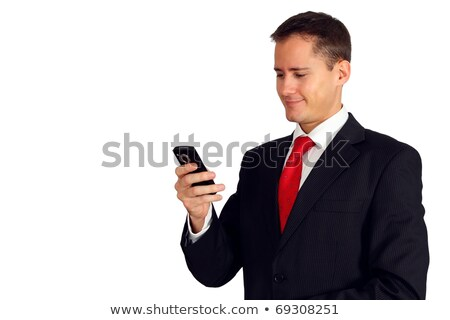 man looking at his personal organizer stock photo © photography33