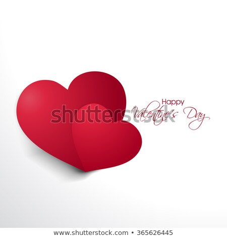 greeting card valentine day heart and cupid on paper texture stock photo © rufous