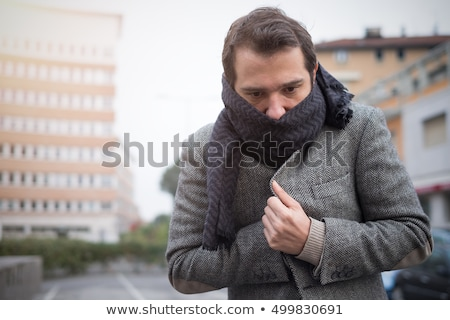 Man feeling cold on a winter's day Stock photo © photography33