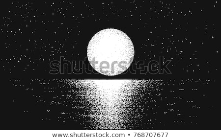 art Beach and water in the moonlight Stock photo © Konstanttin
