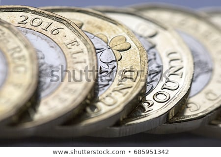 Stock fotó: British Coins Sterling Full Frame